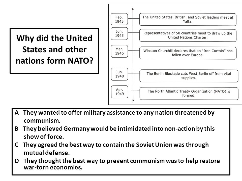 Why did the United States and other nations form NATO