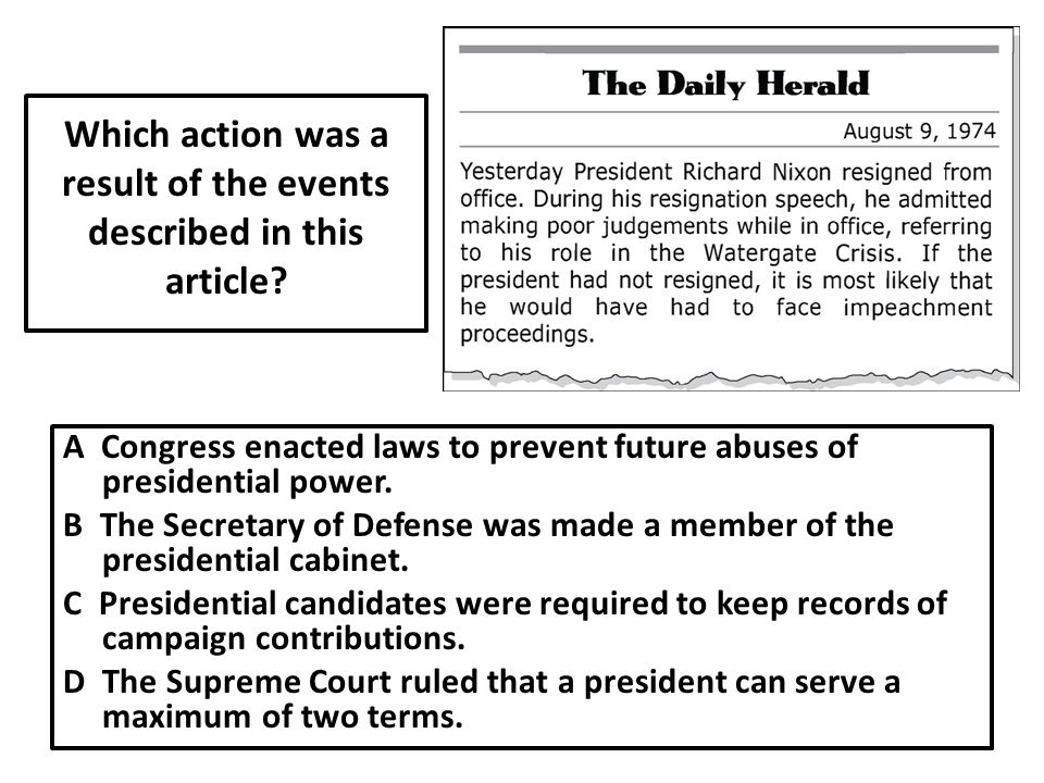 Which action was a result of the events described in this article
