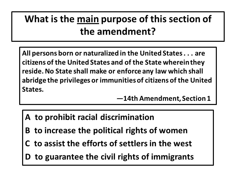 What is the main purpose of this section of the amendment