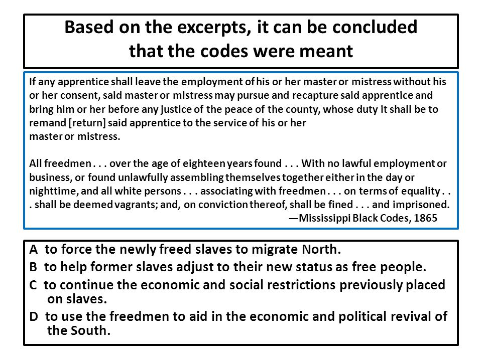 Based on the excerpts, it can be concluded that the codes were meant