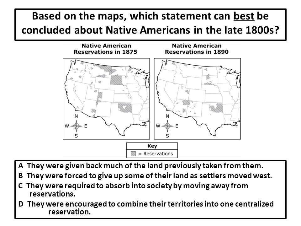 Based on the maps, which statement can best be concluded about Native Americans in the late 1800s