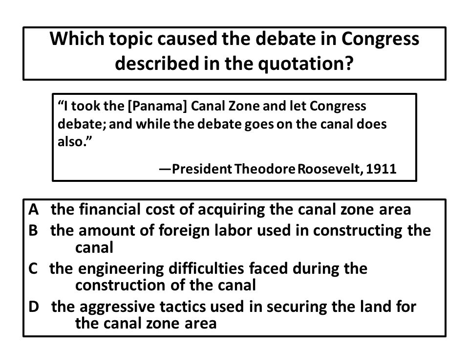 Which topic caused the debate in Congress described in the quotation