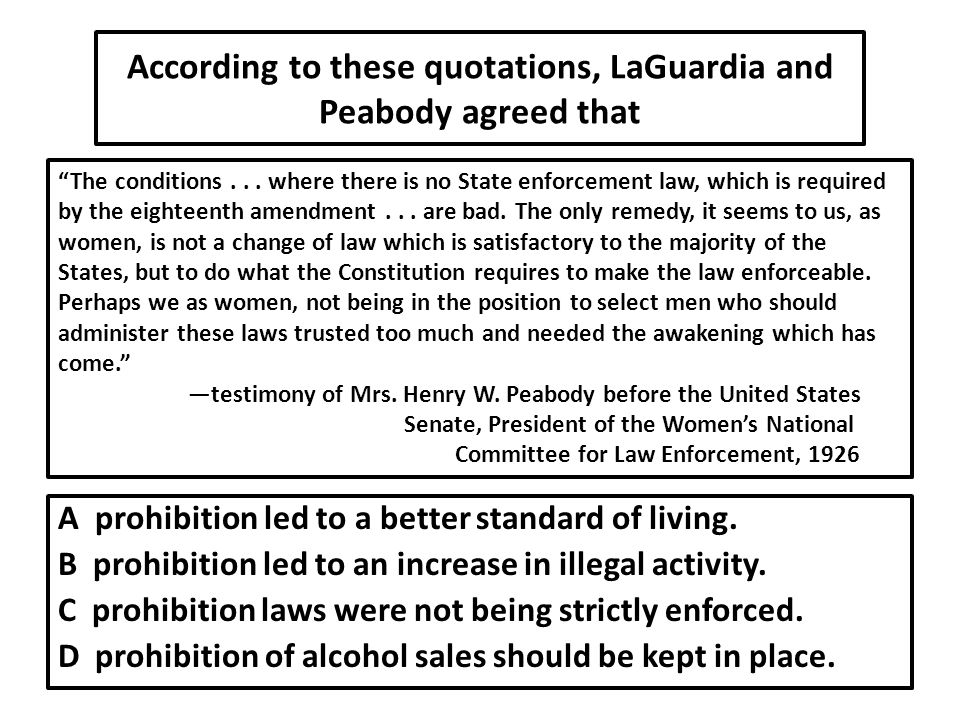 According to these quotations, LaGuardia and Peabody agreed that