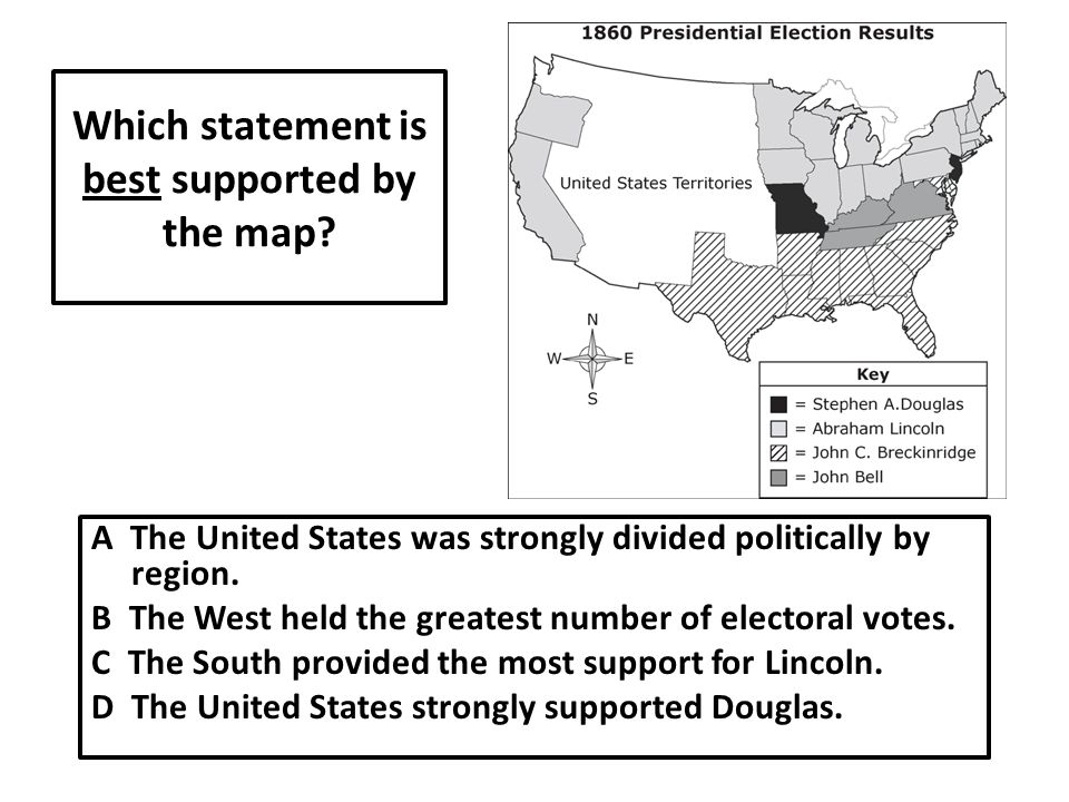 Which statement is best supported by the map