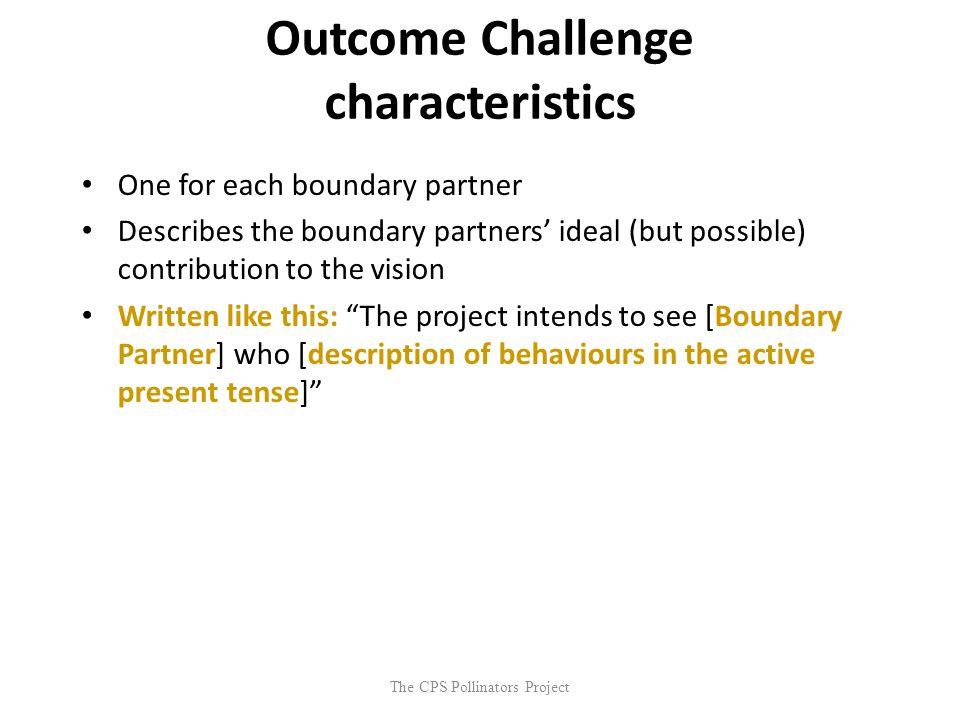 Outcome Challenge characteristics