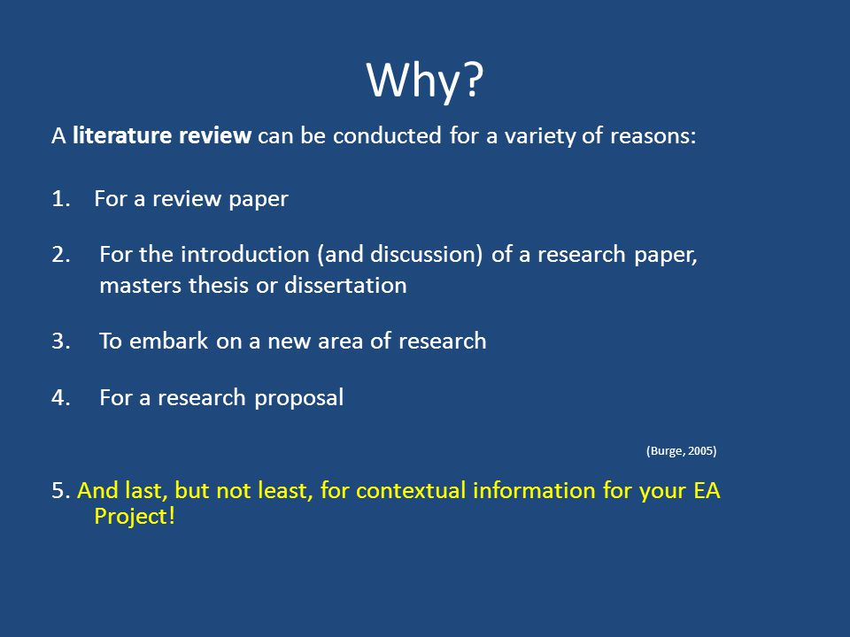 Proposal and dissertation help literature review