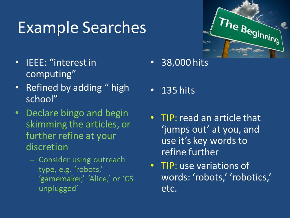 Example Searches IEEE: interest in computing
