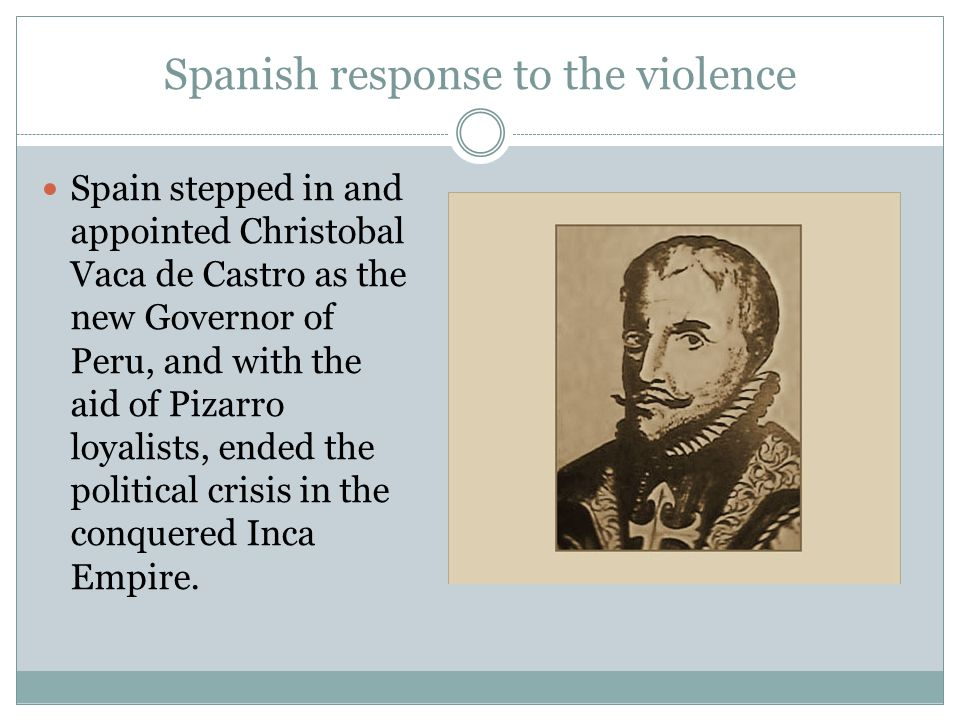 Spanish response to the violence
