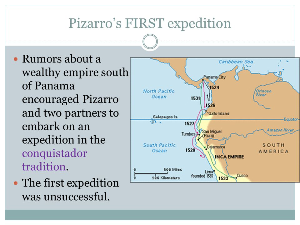 Pizarro's FIRST expedition