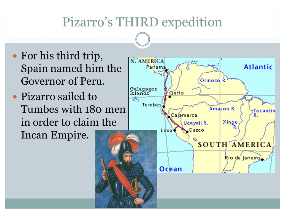 Pizarro's THIRD expedition