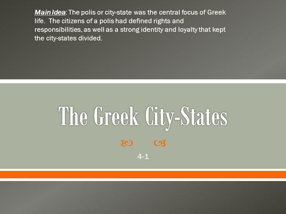 The Greek City-States 4-1
