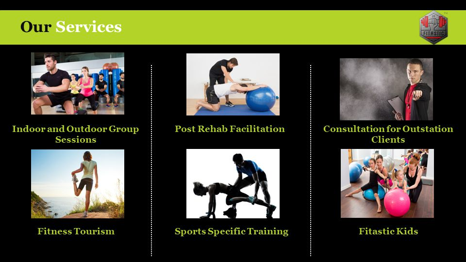 Our Services Indoor and Outdoor Group Sessions Post Rehab Facilitation