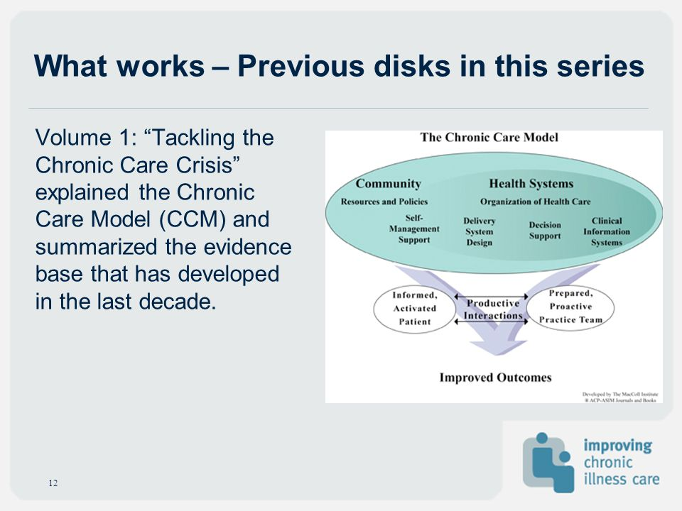 What works – Previous disks in this series