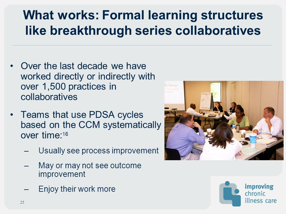 What works: Formal learning structures