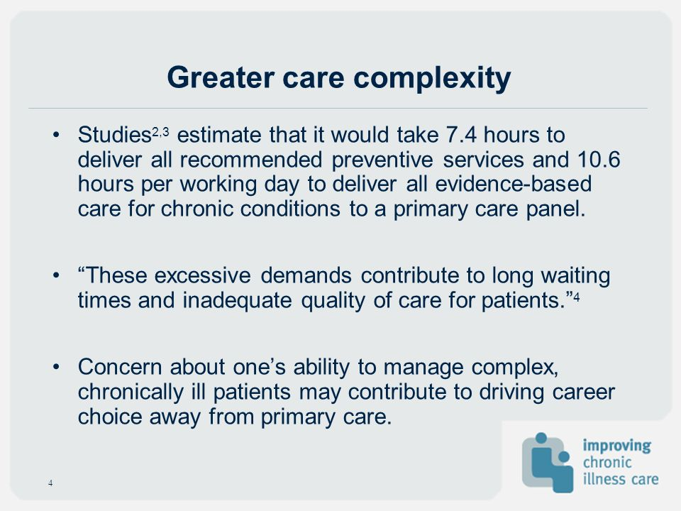Greater care complexity