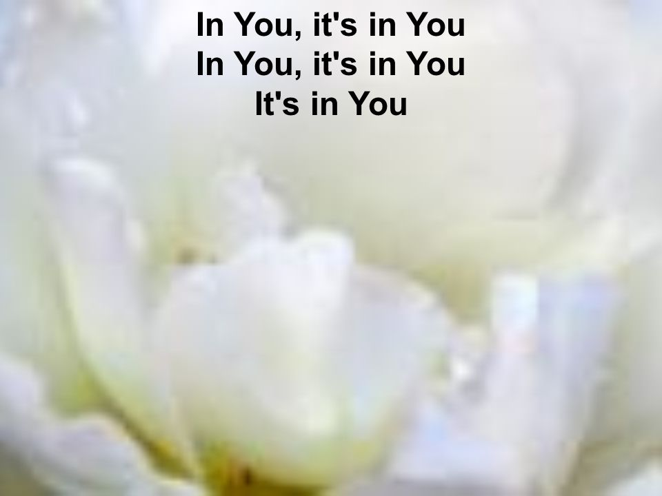 In You, it s in You In You, it s in You It s in You