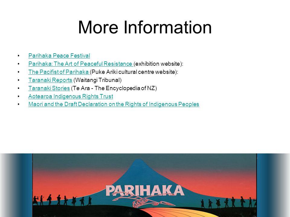 More Information Parihaka Peace Festival