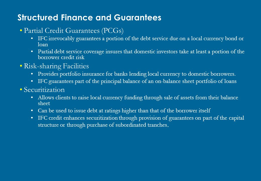 Structured Finance and Guarantees