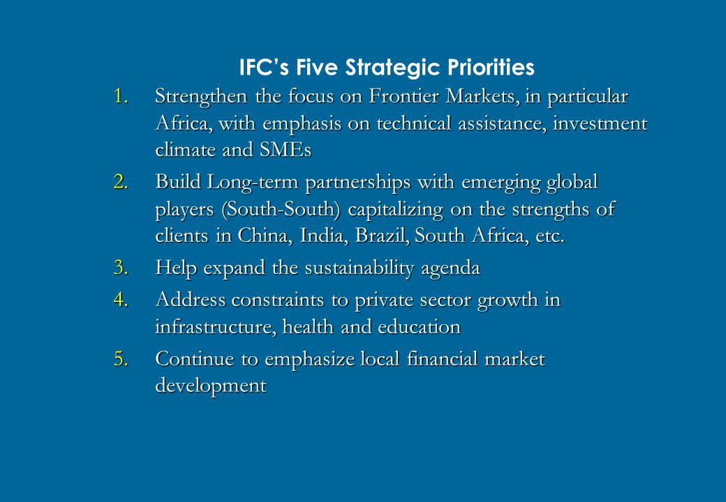 IFC's Five Strategic Priorities