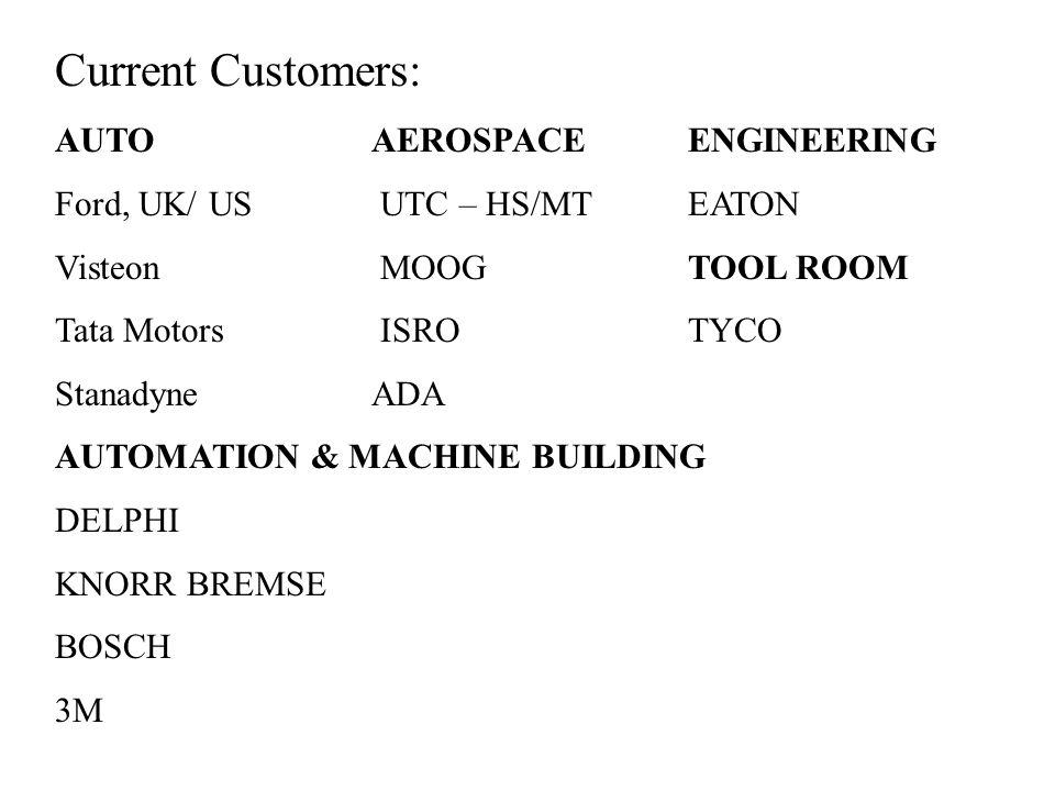Current Customers: AUTO AEROSPACE ENGINEERING