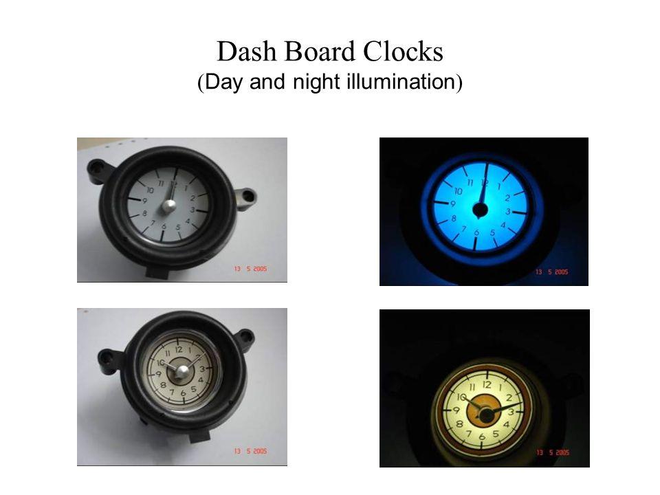 Dash Board Clocks (Day and night illumination)