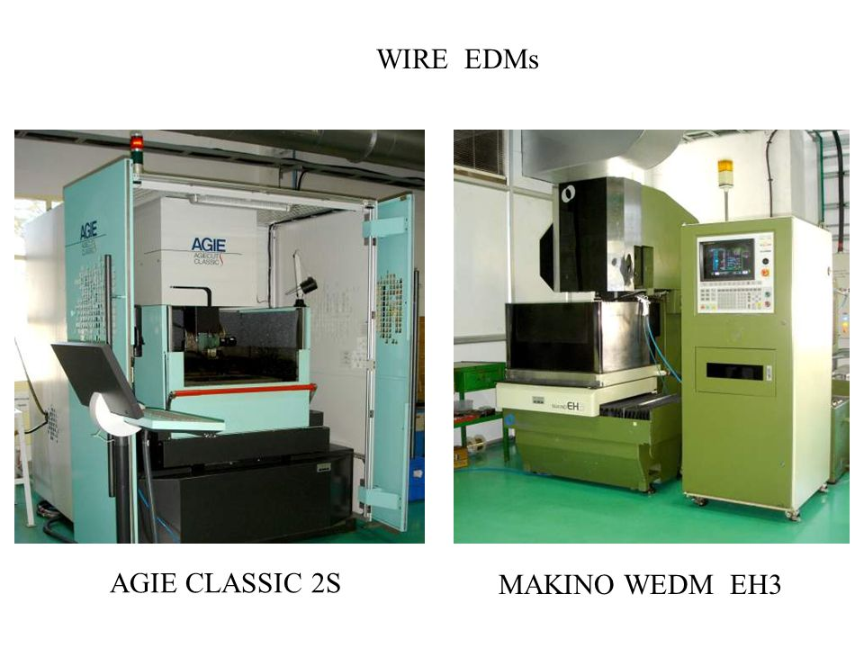 WIRE EDMs AGIE CLASSIC 2S MAKINO WEDM EH3
