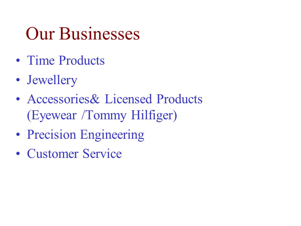 Our Businesses Time Products Jewellery