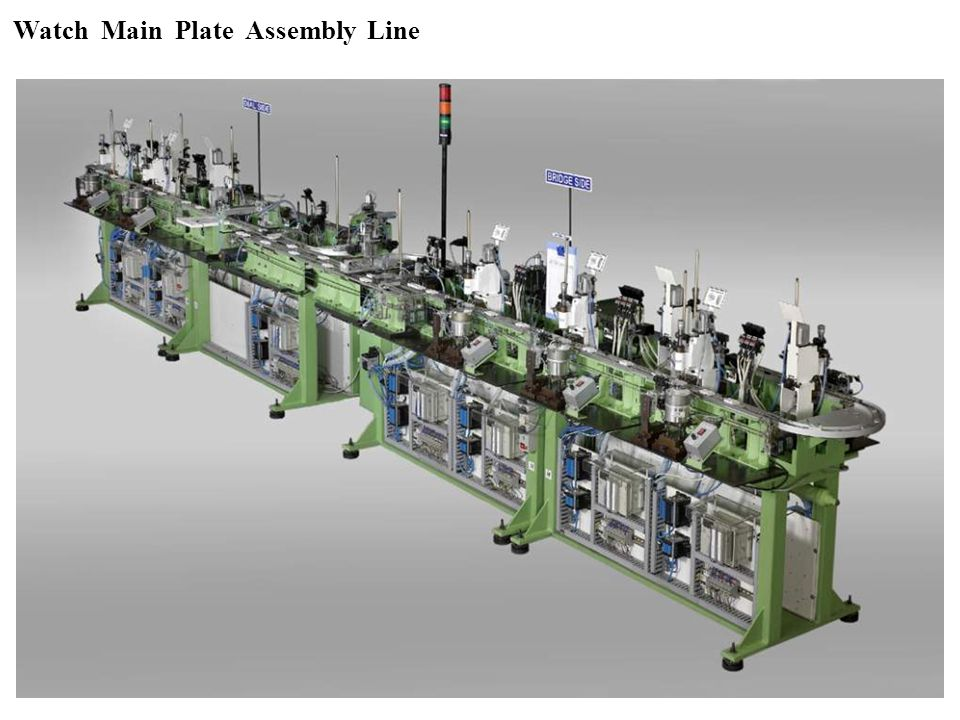 Watch Main Plate Assembly Line