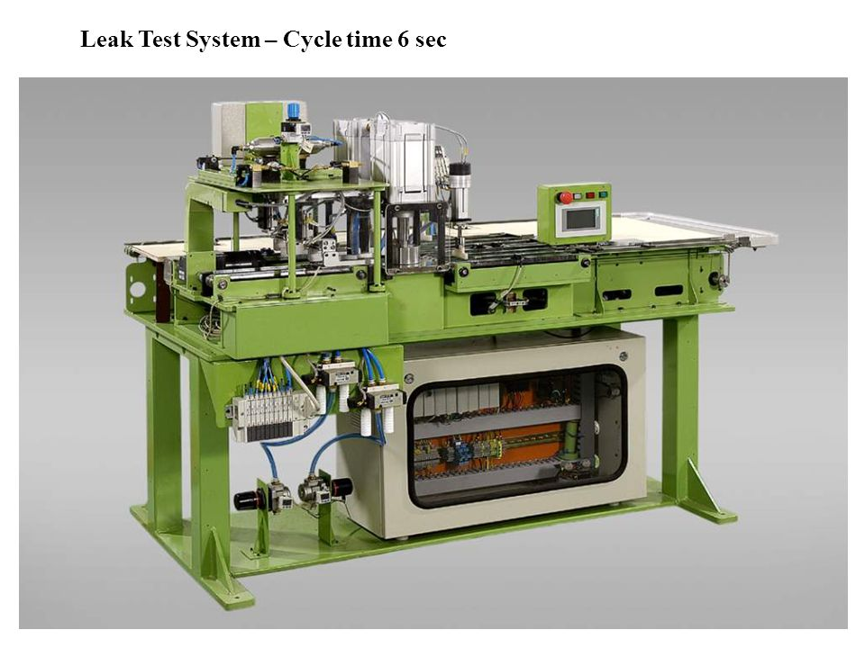 Leak Test System – Cycle time 6 sec
