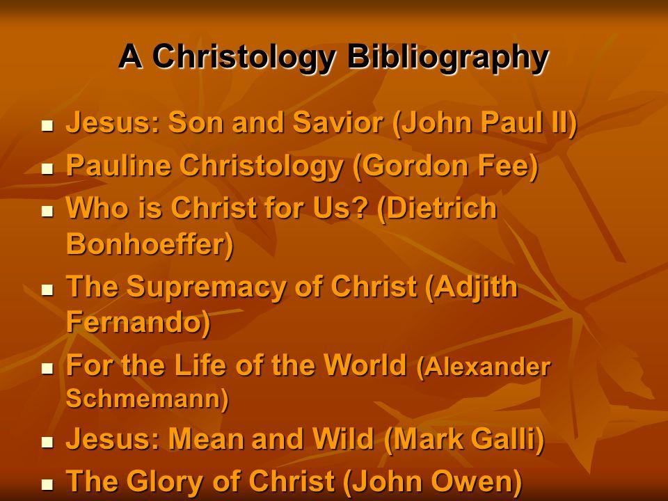A Christology Bibliography