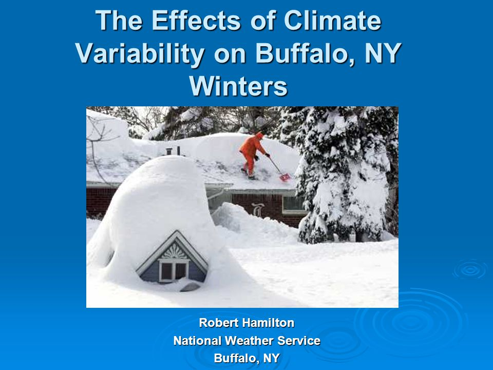 The Effects of Climate Variability on Buffalo, NY Winters