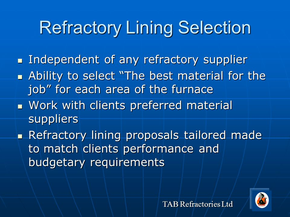 Refractory Lining Selection