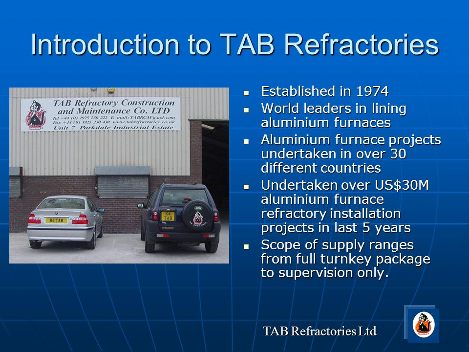 Introduction to TAB Refractories
