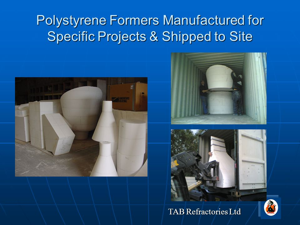 Polystyrene Formers Manufactured for Specific Projects & Shipped to Site
