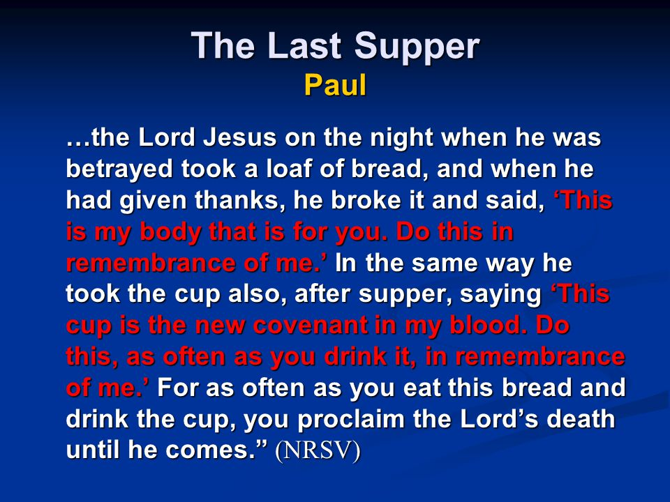 The Last Supper Paul