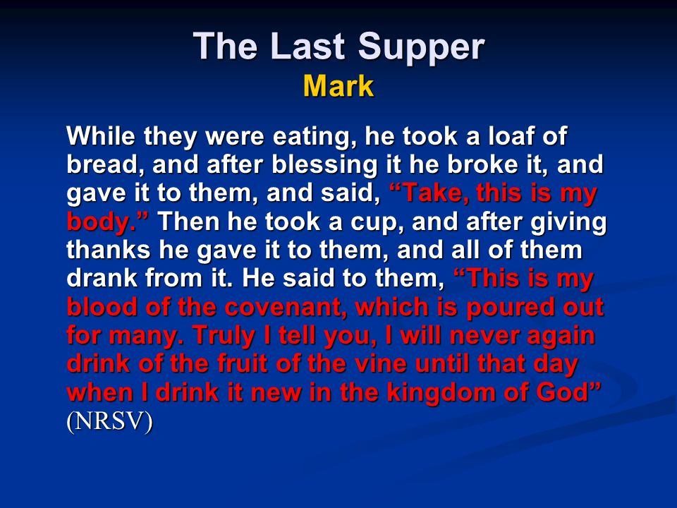 The Last Supper Mark