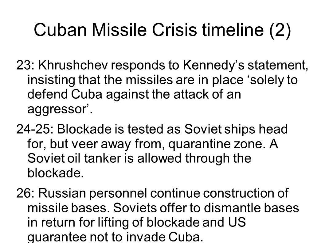 Cuban Missile Crisis timeline (2)