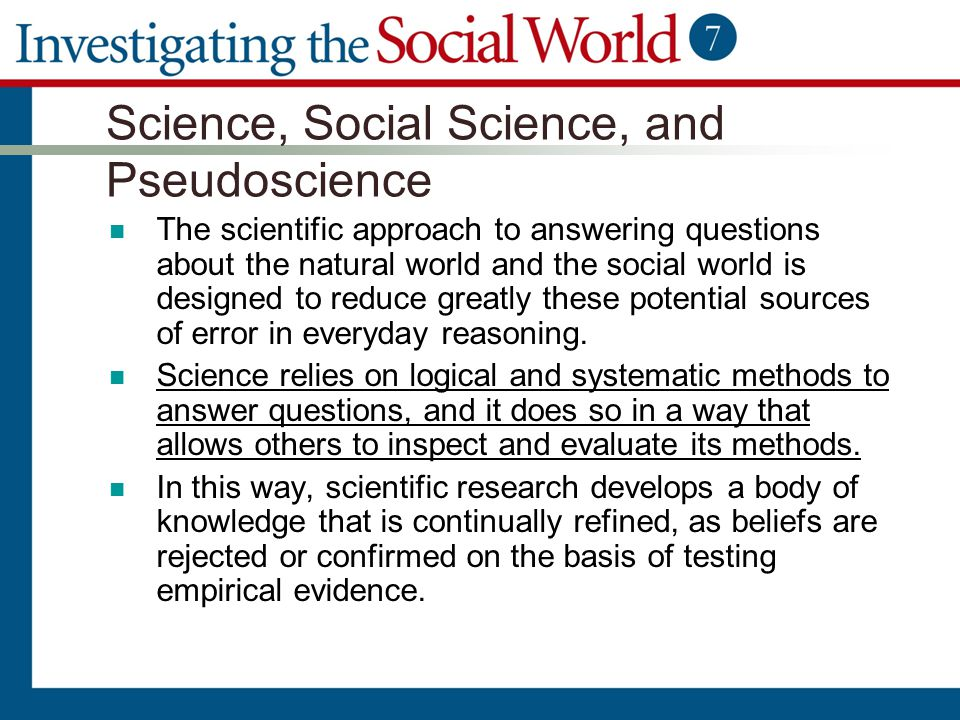 Science, Social Science, and Pseudoscience