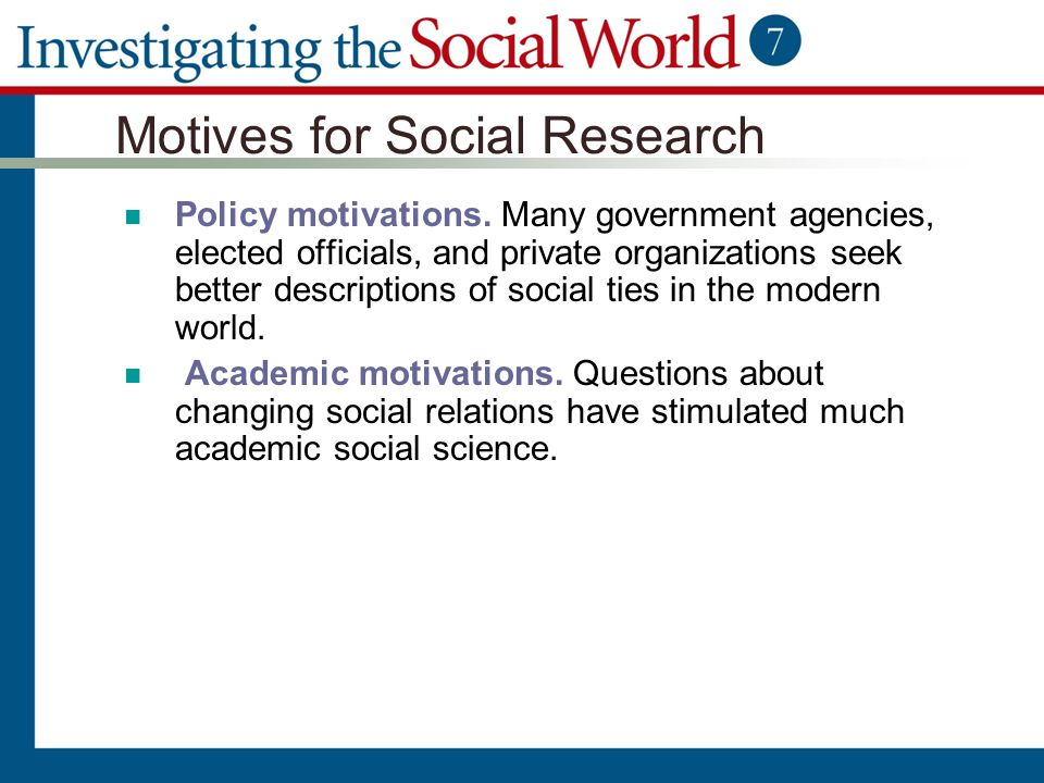 Motives for Social Research