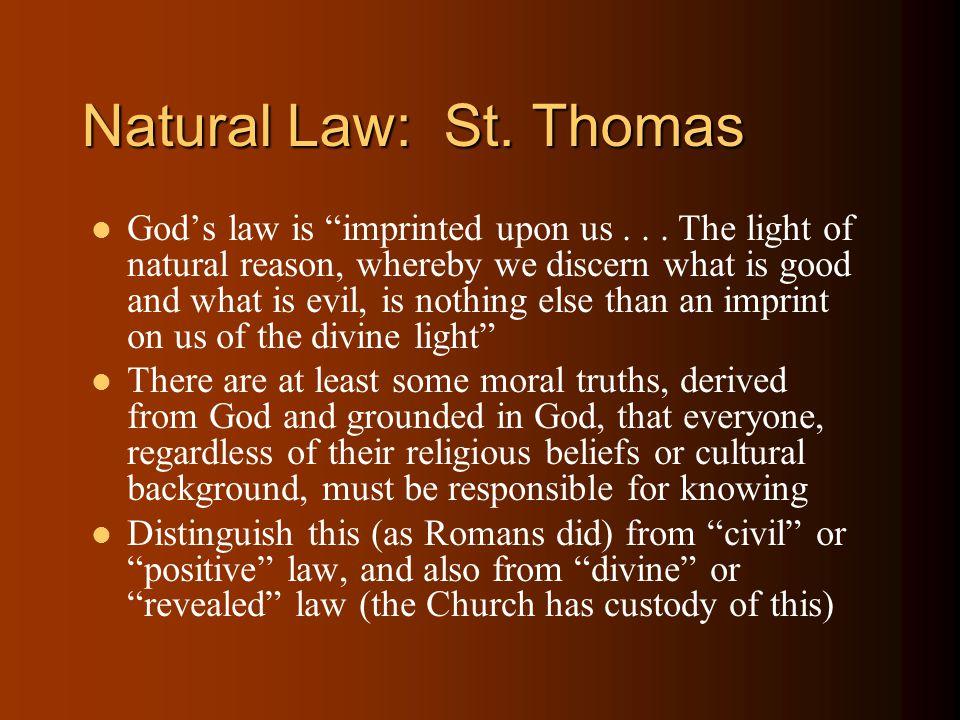 Natural Law: St. Thomas