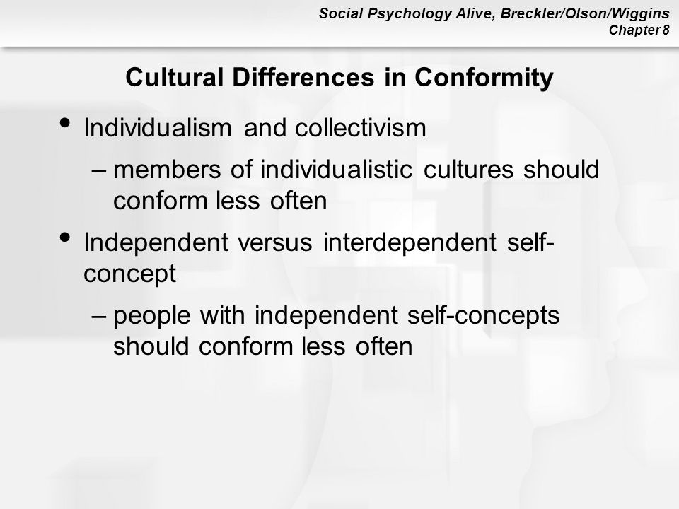 Cultural Differences in Conformity