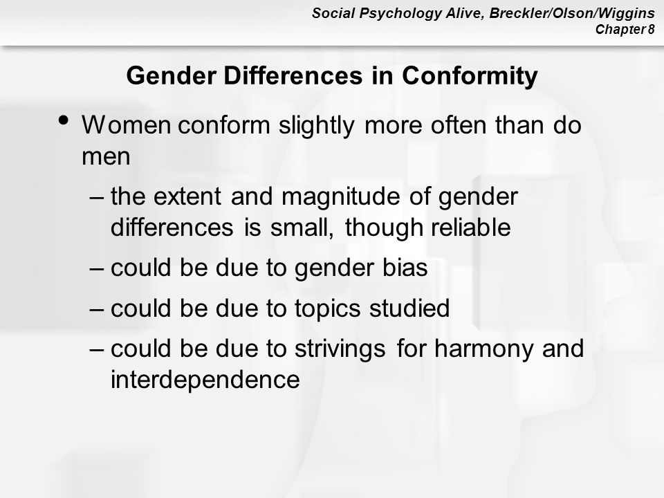 Gender Differences in Conformity