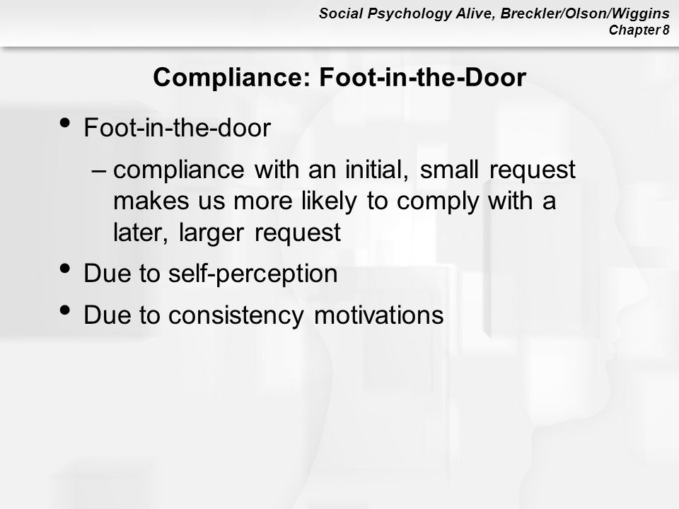 Compliance: Foot-in-the-Door