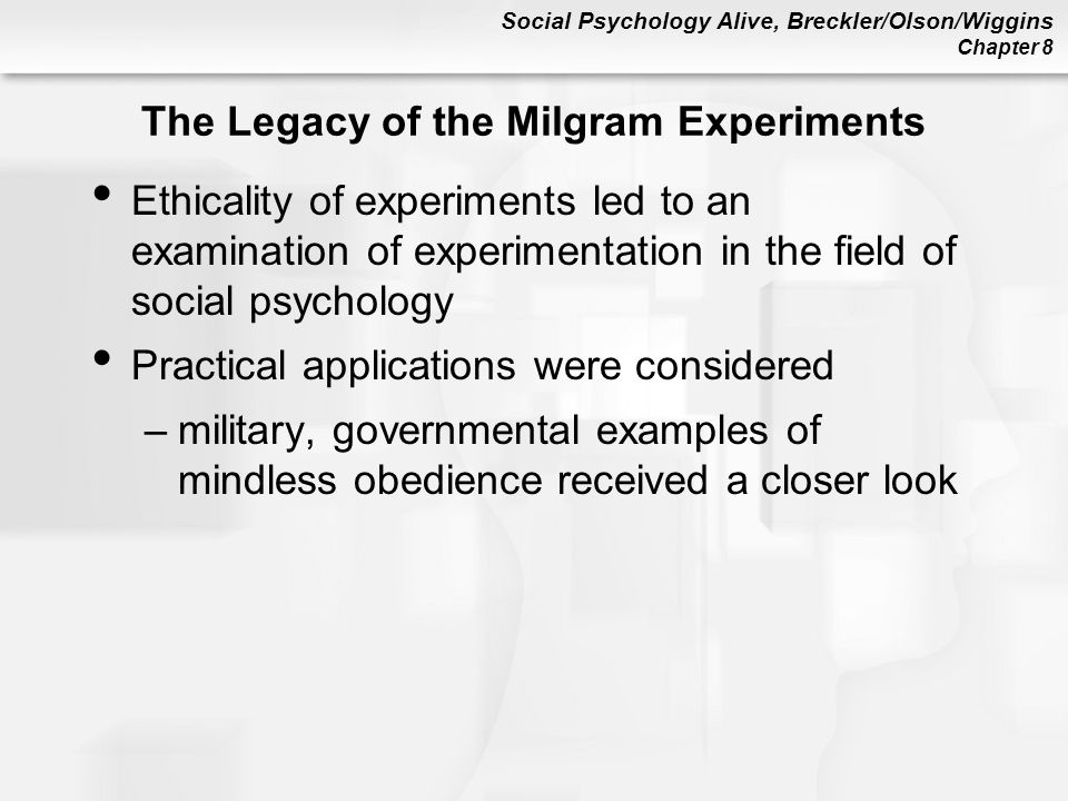 The Legacy of the Milgram Experiments