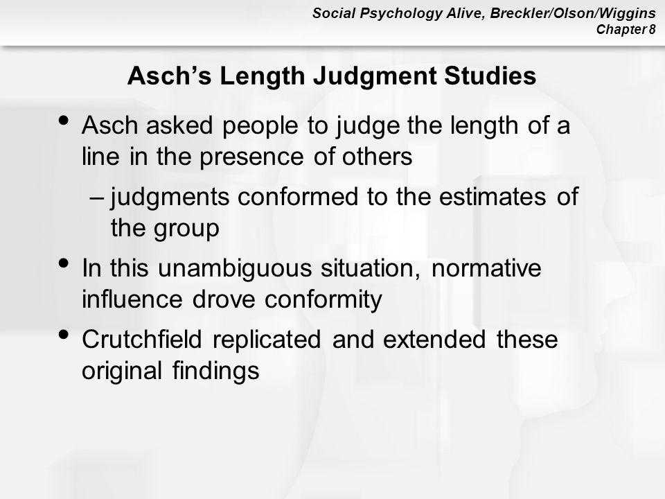 Asch's Length Judgment Studies