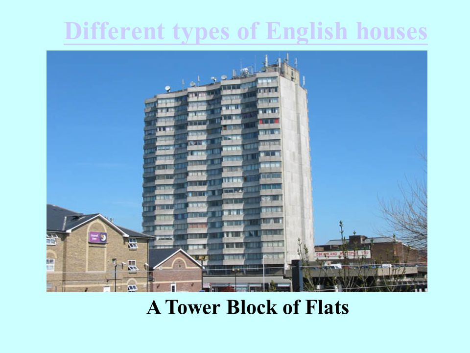 Different types of English houses