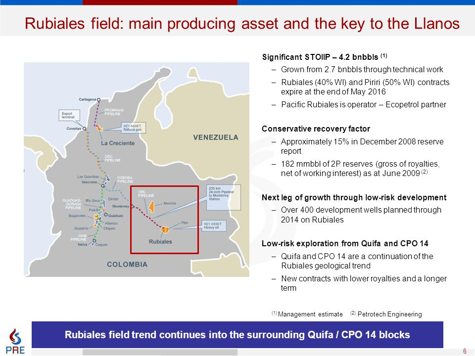 Rubiales field: main producing asset and the key to the Llanos