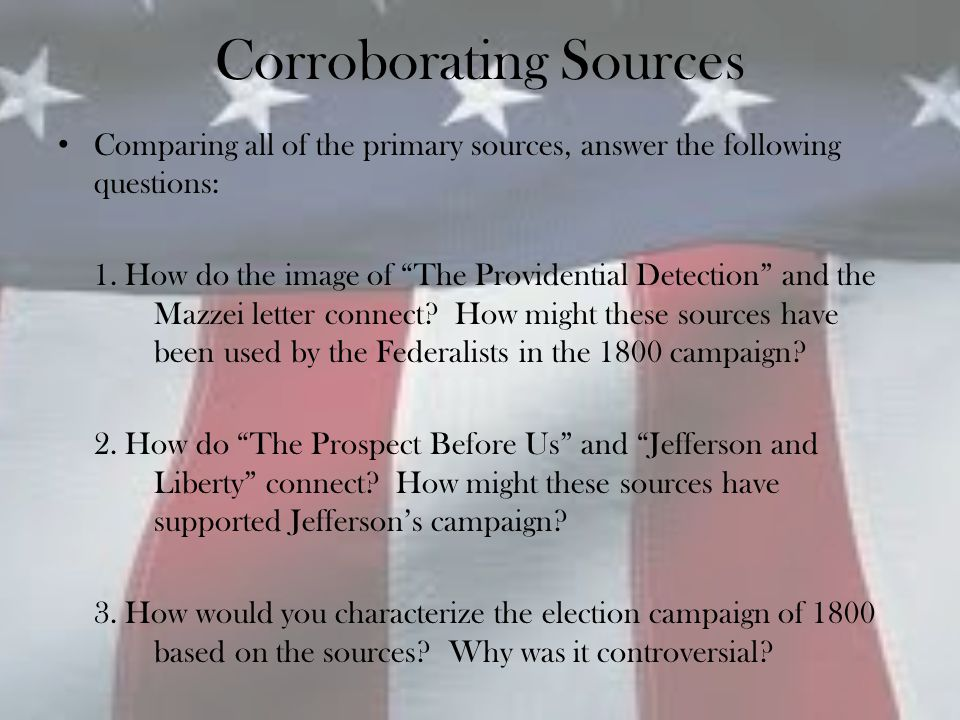 Corroborating Sources