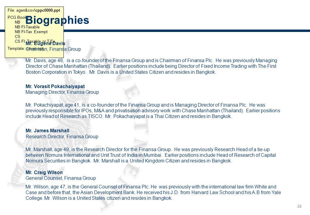 Biographies (cont.) Ms. Rachanee Mahatdetkul