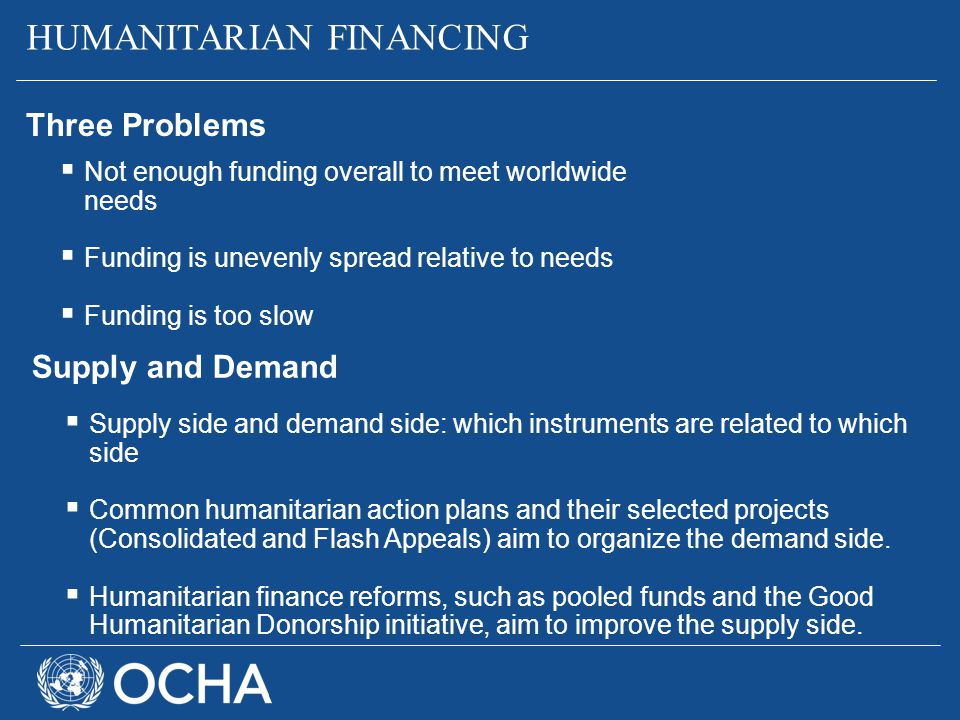 HUMANITARIAN FINANCING
